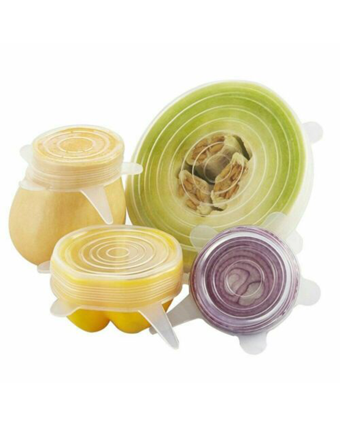 6PCS Stretch Reusable Silicone Bowl Wraps (4828276883534)