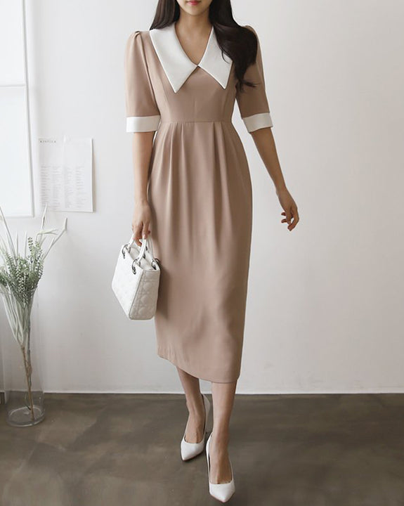 Lobea Wide Collar Dress (4850042241102)
