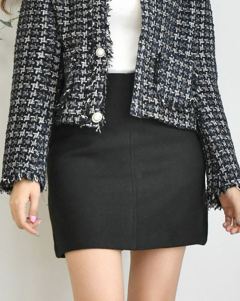 Glam Woolen Mini Skirt (4720394141774)