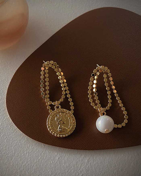 Chain Unbalance Earrings (6155206656172)