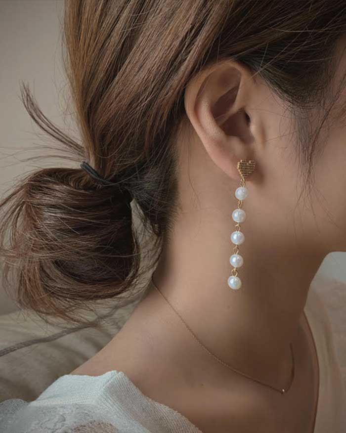 Pearl Drop Earrings (6155209867436)