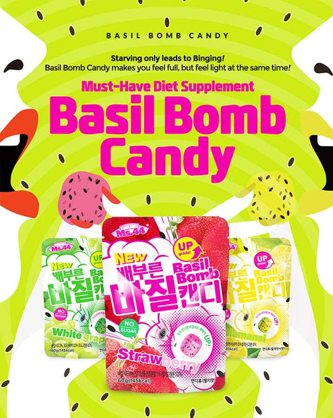 Basil Bomb Candy (White Grape Flavor/Strawberry Flavor/Calamansi Flavor) (6085860720812)