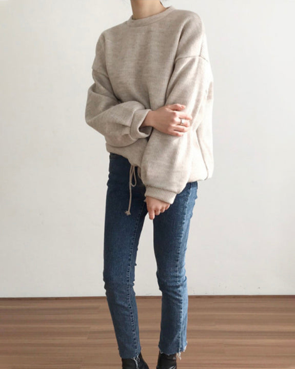 Wool Knit String Top (4863696273486)