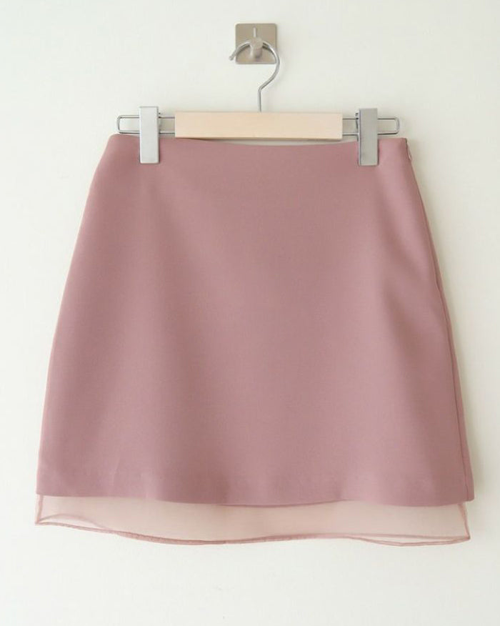 Be Mine Double Layered Mini Skirt (4612405952590)