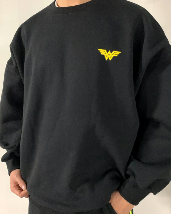 Wonder Printing Fleece-lined Sweatshirt Top (4813754892366)