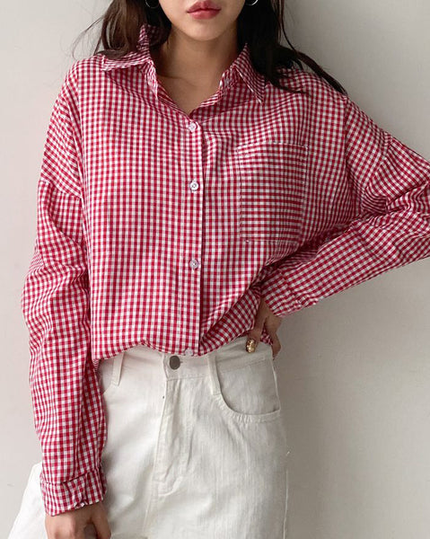 Cherry Check Blouse