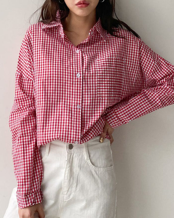 Cherry Check Blouse (4567754342478)