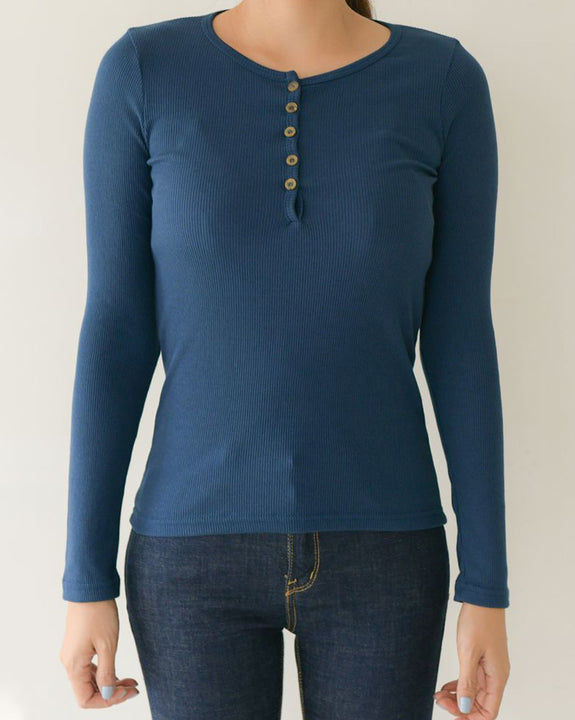 Ribbed Button Top (4824028971086)