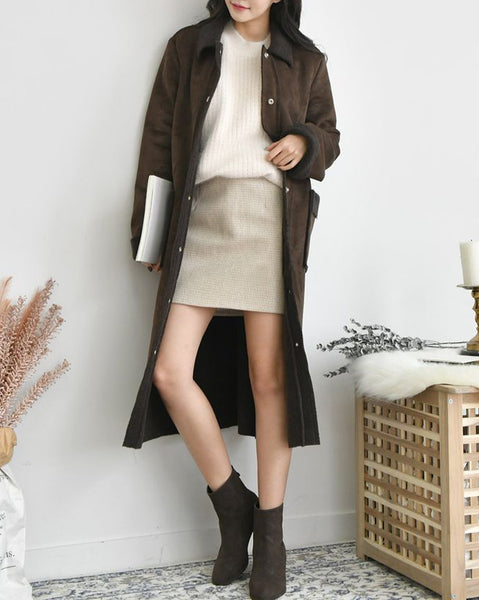 Hush Vov Suede Long Coat (4692775206990)