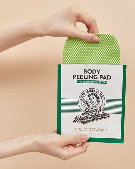 [MOM'S BATH RECIPE] Body Peeling Pad Easy Cut (8EA) (6207119327404)