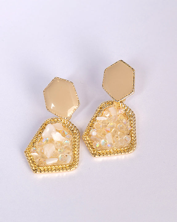 Hexa Gemstone Earrings (4493924073550)