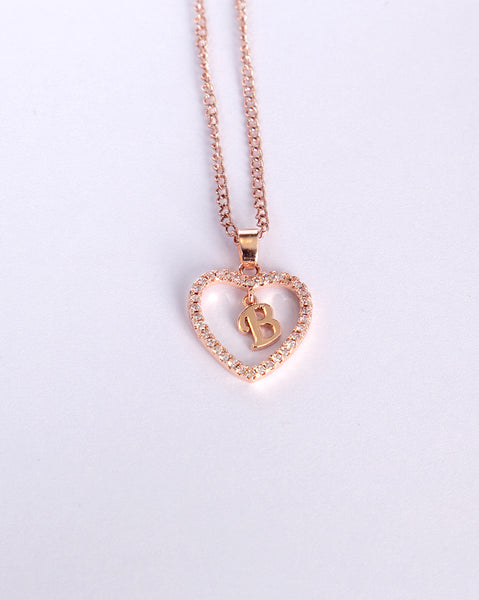 D.I.Y Alphabetic Necklace (Rose Gold)