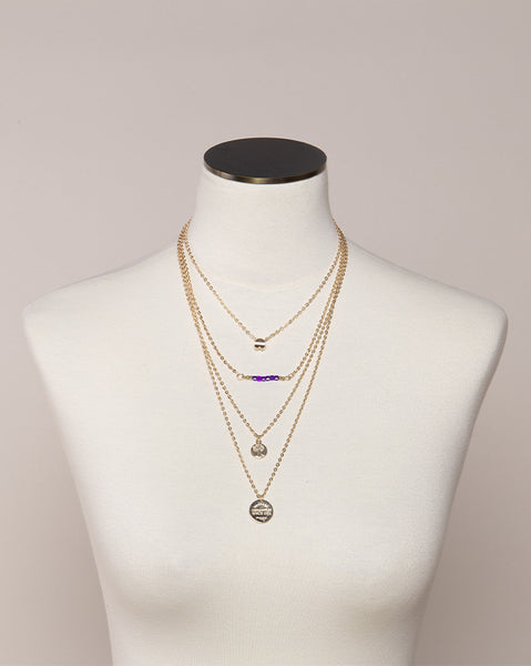 Clematis Cuatro Layered Necklace (4494114979918)