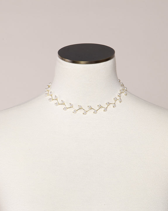 Golden Apple Pearl Necklace (4494144241742)