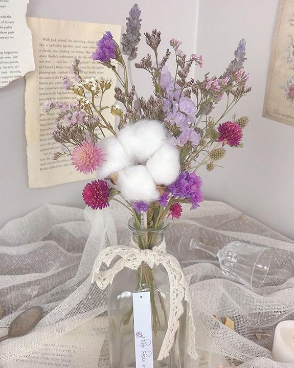 Cotton Flower Vase Arrangement (6597876777132)