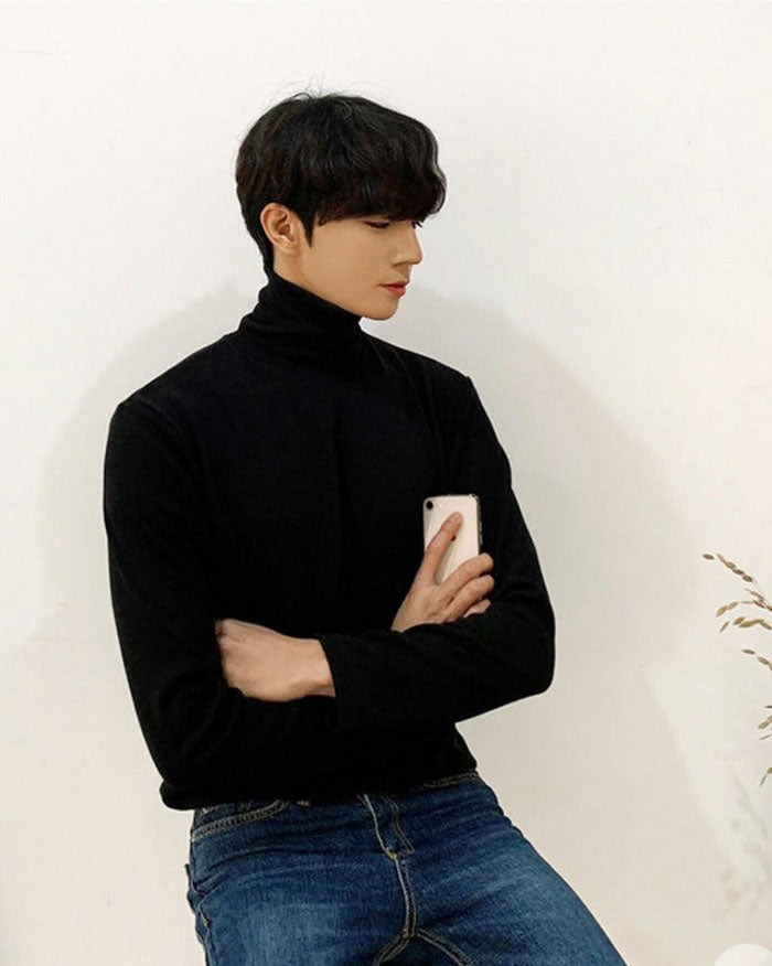 Ribbed Turtleneck Long Sleeve Sweater (6635086839980)