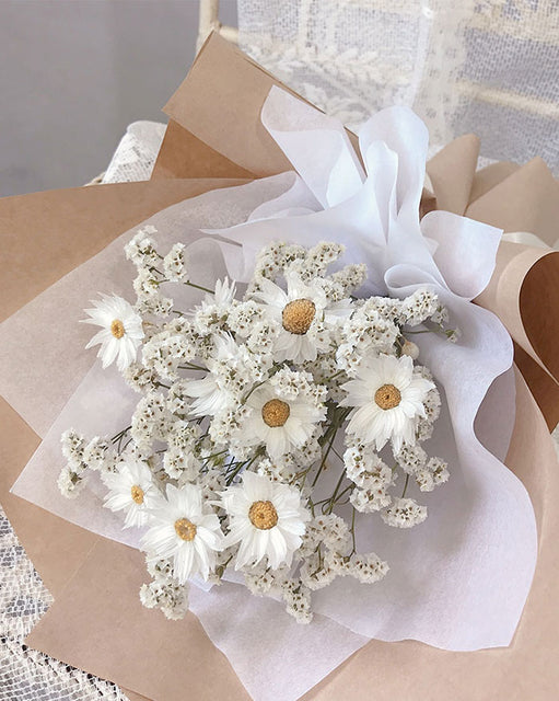 Mini Daisy Bouquet / Mini Lavender & Baby/s Breath Dried Bouquet (6597905809580)