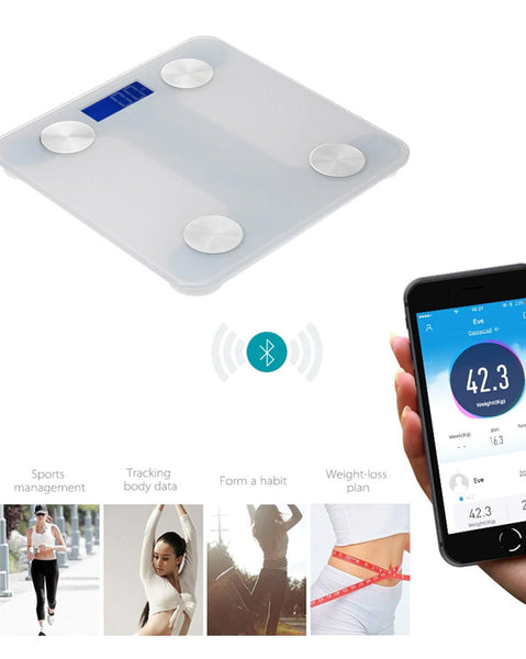 Body Fat Smart Scale Bluetooth 4.0 Digital Scale LED Display (6217652142252)