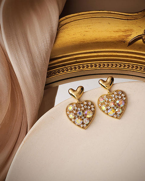 Aurora Bubble Heart Earrings (6171711209644)