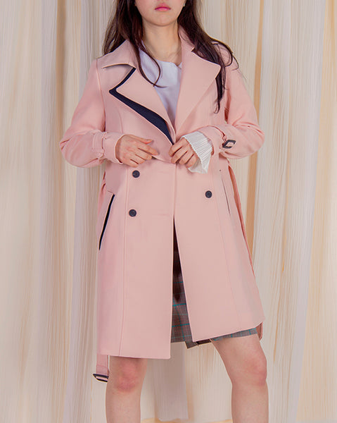Layered Trench Coat (4382089183310)