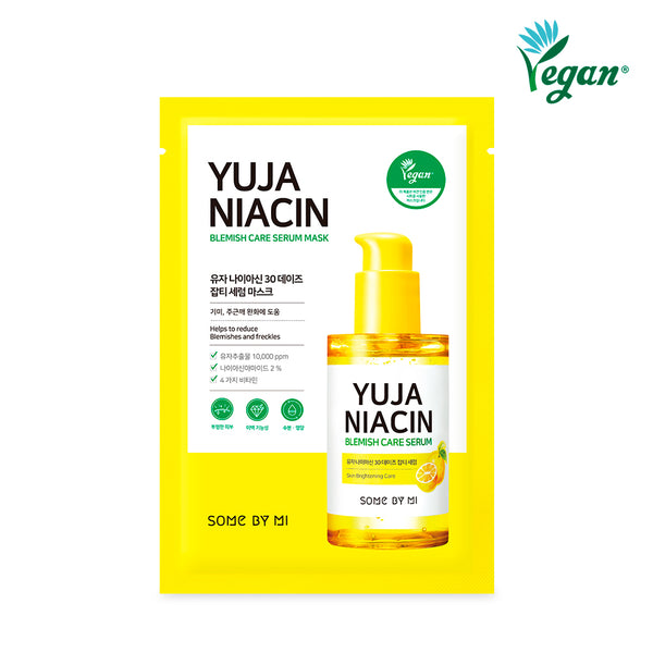 [BUY 5 GIFT 5] Yuja Niacin 30 Days Care Serum Mask * 10EA - SOME BY MI