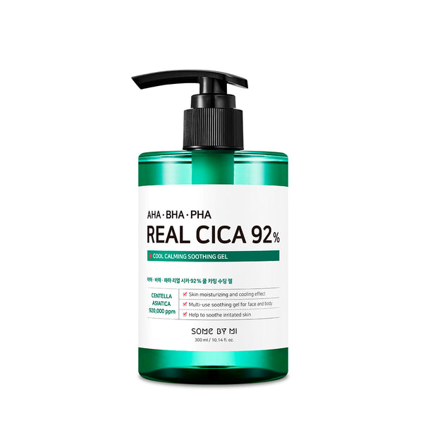 AHA-BHA-PHA Real Cica 92% Cool Calming Soothing Gel - SOME BY MI