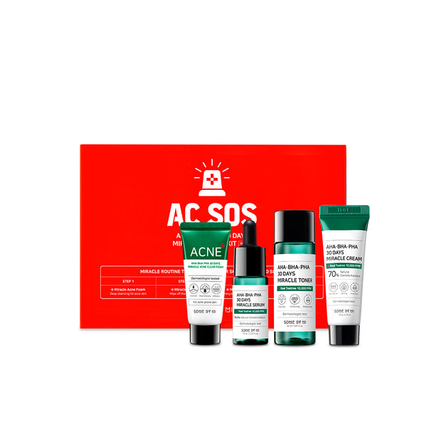 AHA-BHA-PHA 30Days Miracle AC SOS Kit - SOME BY MI