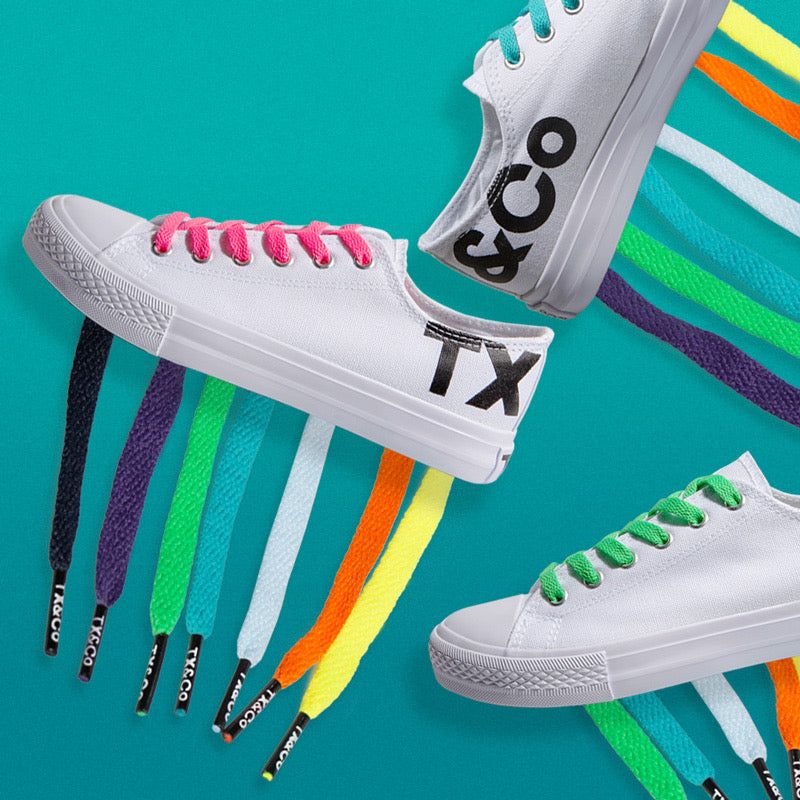 Big Trixx Bundle — Adult White Canvas Shoe