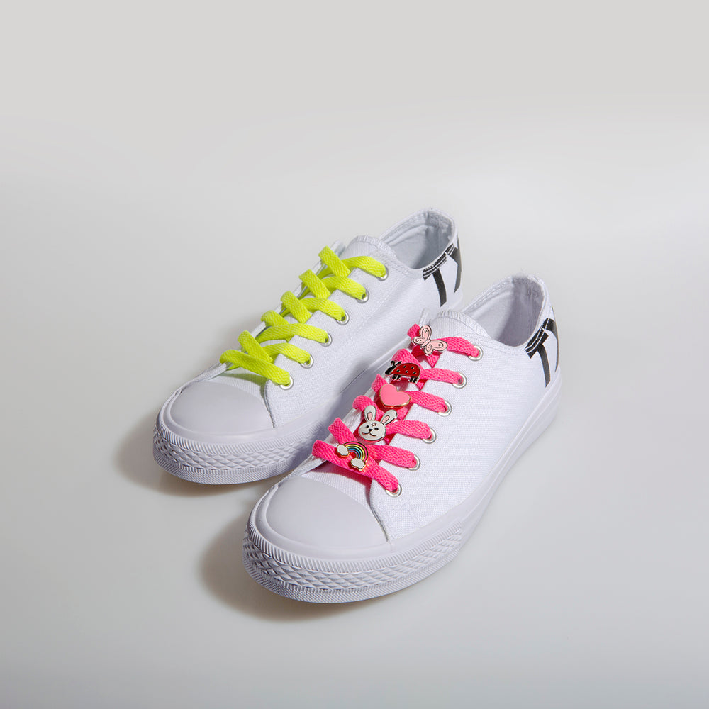 Little Trixx Bundle — Kids White Canvas Shoe