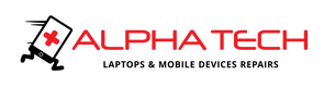 Alpha Tech Mobile and Computer shop logo