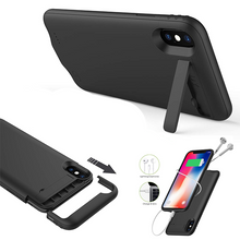 Load image into Gallery viewer, 6000 mAh black rechargeable case for Apple iPhone XR (premium quality)