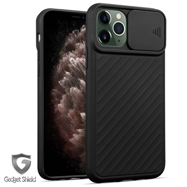 Black Gadget Shield camera window gel case for Apple iPhone 11 Pro Max