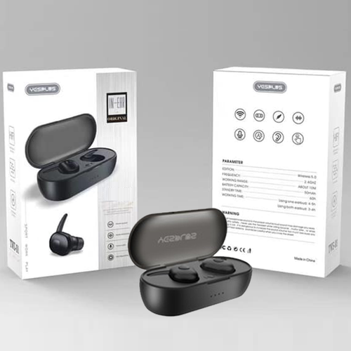 Black YesPlus Bluetooth Earphone