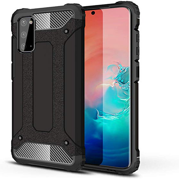 Black slim armor case for Samsung Galaxy S20 Ultra