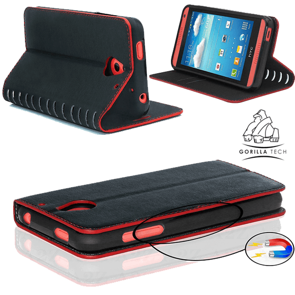 New book Gorilla Tech black outline red case for Google Pixel 2 XL