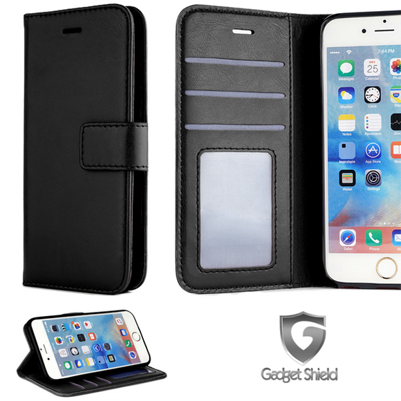 Gadget Shield black classic book case for Samsung Galaxy A71