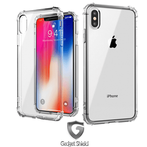 Gadget Shield shockproof transparent gel case for Apple iPhone X / XS