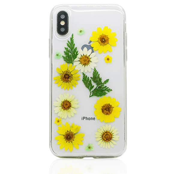 Gorilla Tech Gel Case with dried flowers 5 for iPhone 6/7/8 / SE 2020