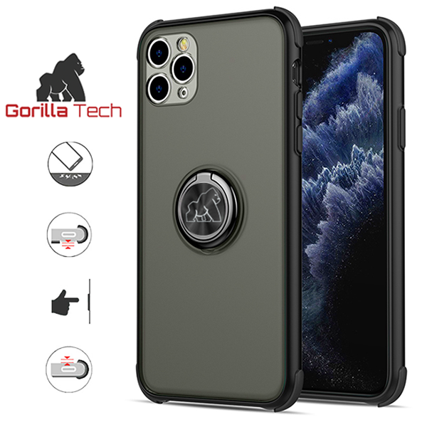 Gorilla Tech shell black ring shockproof black for Apple iPhone XR