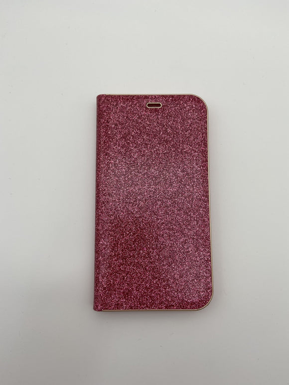 iPhone X/ XS Glittery Book Case