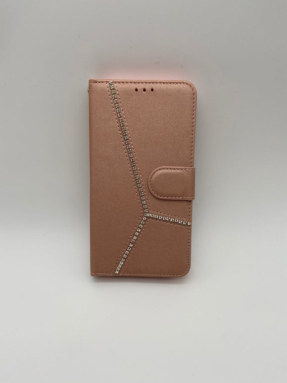 iPhone X/ XS Book Case with Dimonds