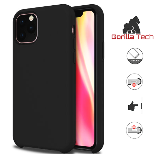 Premium quality sky black Gorilla Tech silicone case for Apple iphone 11
