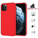 Premium quality red Gorilla Tech silicone case for Apple iphone 11