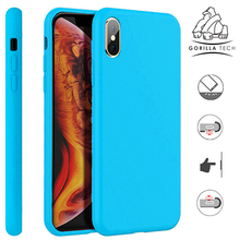 Load image into Gallery viewer, Premium quality sky blue Gorilla Tech silicone case for Apple iphone 11