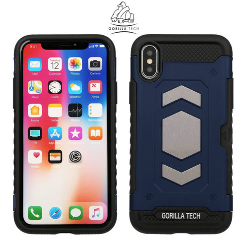 Slim armor mirror gorilla tech gold case for Apple iPhone X / XS