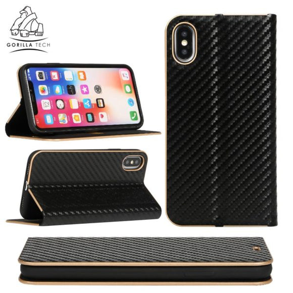 Ultra slim Carbon Gorilla Tech black case for Apple iPhone X / XS