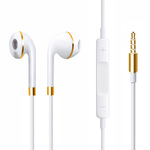 White Gold  earphone compatible for premium quality smartphone