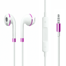 Load image into Gallery viewer, White pink earphone compatible for premium quality smartphone