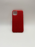 iPhone 11 Glittery Back Case Red
