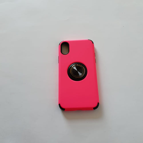 iPhone X Pink case with Ring Pop Socket